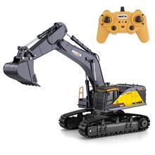 Rctown huina 1:14 1592 rc liga escavadeira 22ch grandes caminhões rc simulação escavadeira de controle remoto veículo brinquedo para meninos