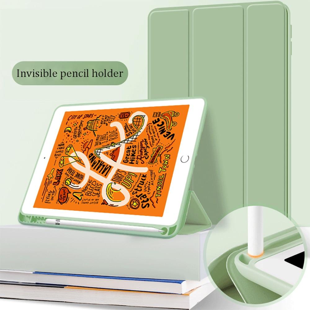 For iPad Air 4 Case 2021 M1 iPad Pro 11 Case 2020 Funda iPad 10.2 Case 7th 8th Generation Case 10.5 Air 3 Mini 5 9.7 Pencil Case