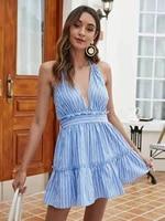2021 vestidos de verano summer dress skirt strap sexy short sleeve dress mini goth sangle robe vest robe blanche blue