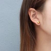 luxury brand small heart stud earrings for women pierced jewelry fashion gold color stainless steel men eardrop christmas gift