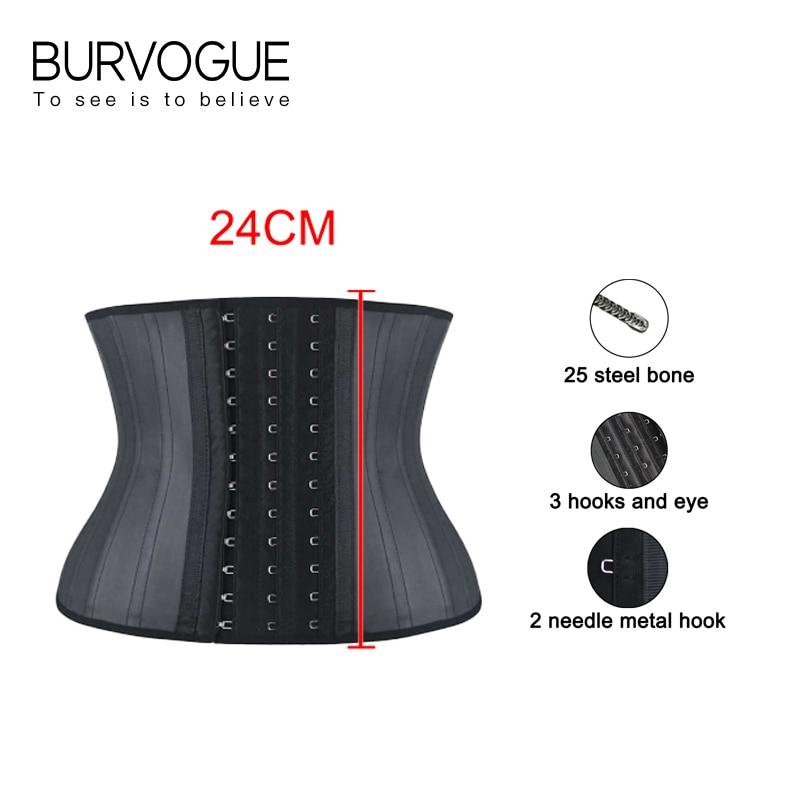 مشد نسائي Burvogue, مشد نسائي للخصر للتخسيس تحت الصدر ، مشدات من اللاتكس للتحكم في الخصر