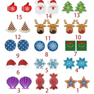 Women Christmas Pasties Nipple Cover Glitter Cartoon Disposable Breast Stickers
