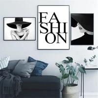 Affiche en toile avec levres Sexy pour femmes  peinture dart mural en Vogue noir et blanc  affiches de fille  photos murales nordiques  decor de maison