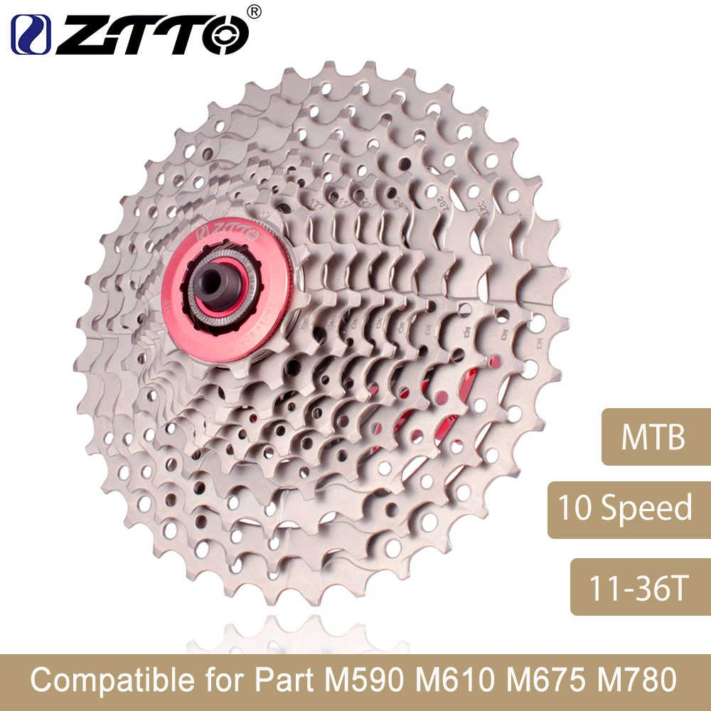 ZTTO горный велосипед MTB 10 скоростей кассета 10 велоидade 10 S 36T Запчасти для велосипедов Звездочка свободного хода для M590 M610 M675 M780 XT SLX