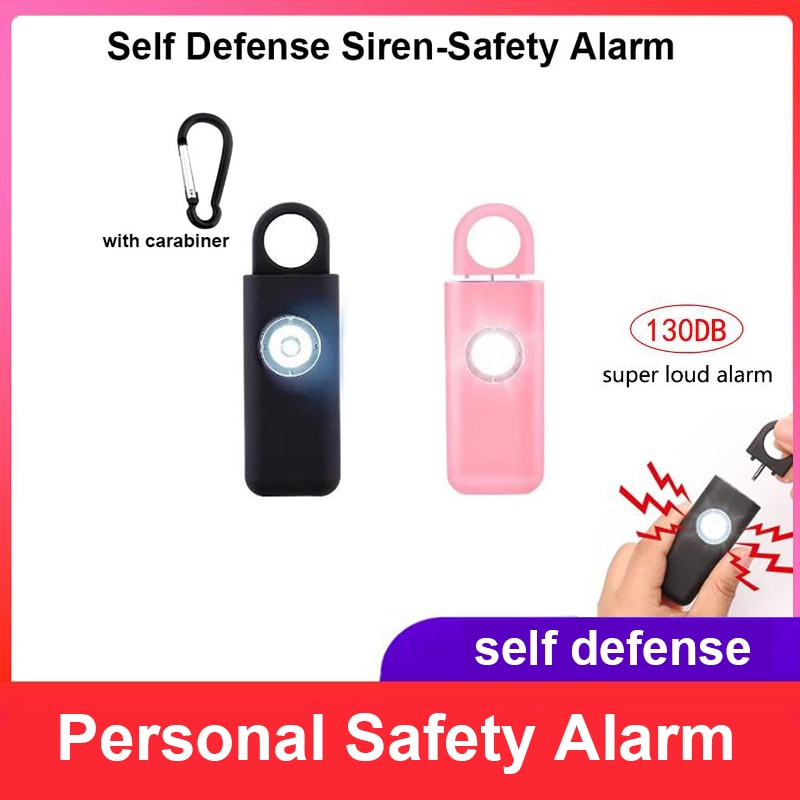 Self Defense Siren Safety Alarm for Women Keychain with SOS LED Light Personal Self Alarm Personal Security Keychain Alarm