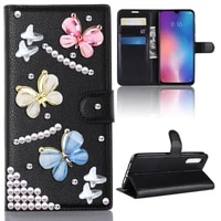 butterfly magnetic leather wallet phone case for iphone 12 mini 11 pro max xr xs max 6 6s 7 8 plus x full body girls back cover