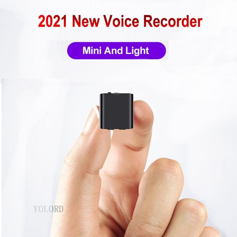 Gravador de Áudio Mais Novo Adsorção Magnética Mini Profissional Ativada Voz Digital Gravação Mp3 Music Player 2021