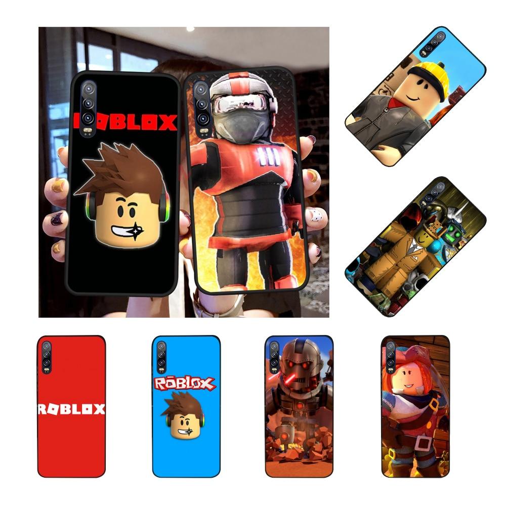 NBDRUICAI Popular Game Roblox Logo Black TPU Soft Rubber Phone Cover for Huawei Honor 20 10 9 8 8x 8c 9x 7c 7a  Lite view