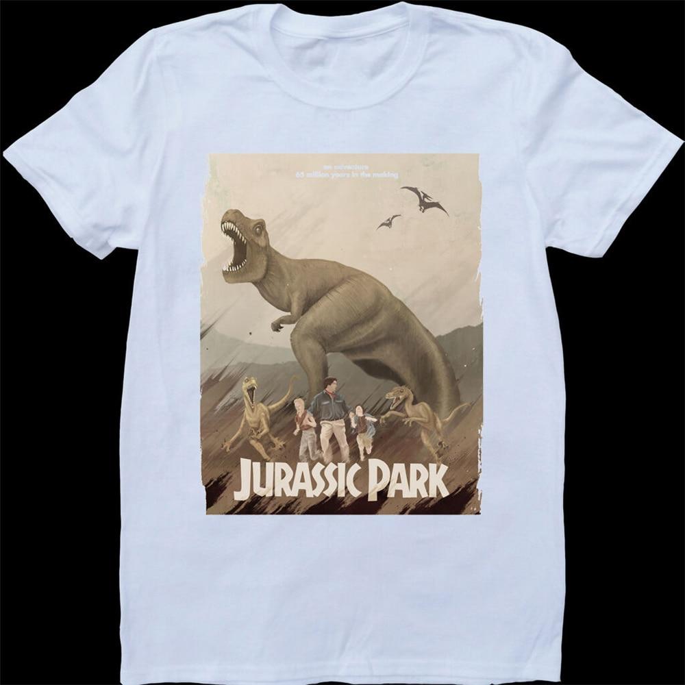Белый парк юррасов, изготовленная на заказ футболка графическая футболка