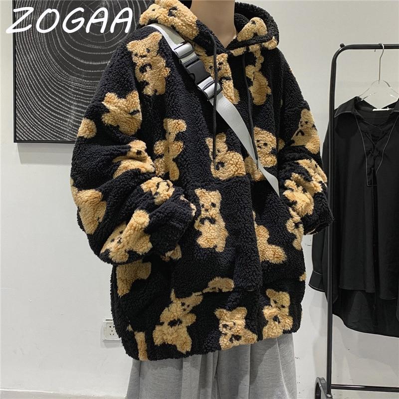 Толстовка ZOGAA мужская с капюшоном, Свитшот в Корейском стиле, модный Повседневный пуловер для студентов, в стиле Харадзюку, на весну