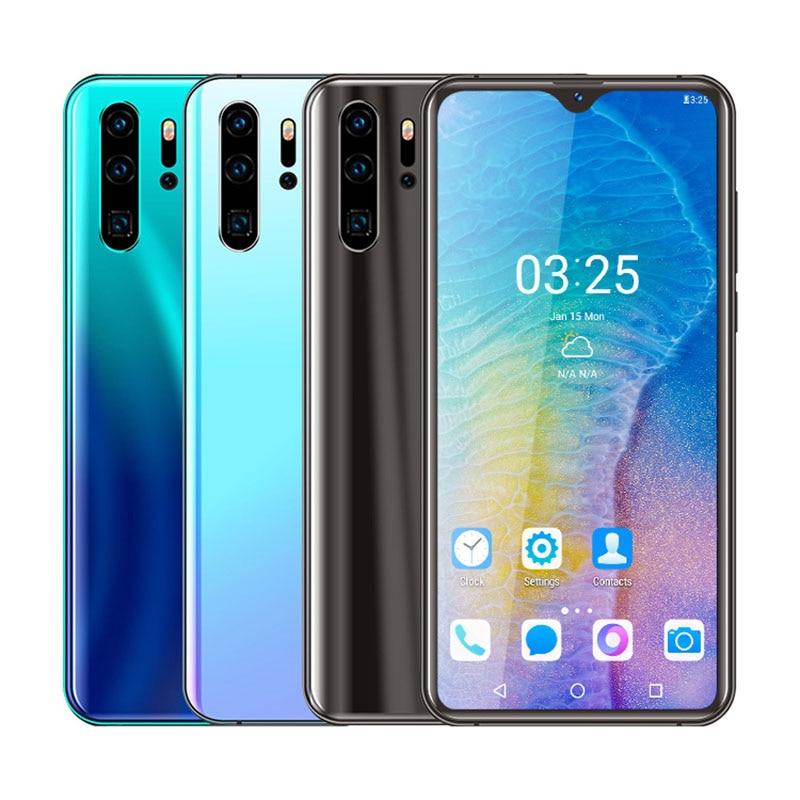 UNIWA-Smartphone P30 Pro 4G, Quad Core, Android 6,0, Dual SIM, Pantalla Completa gota de agua de 6,26 pulgadas, 3000mAh, marco de aleación de Zinc, MT6737, 32GB