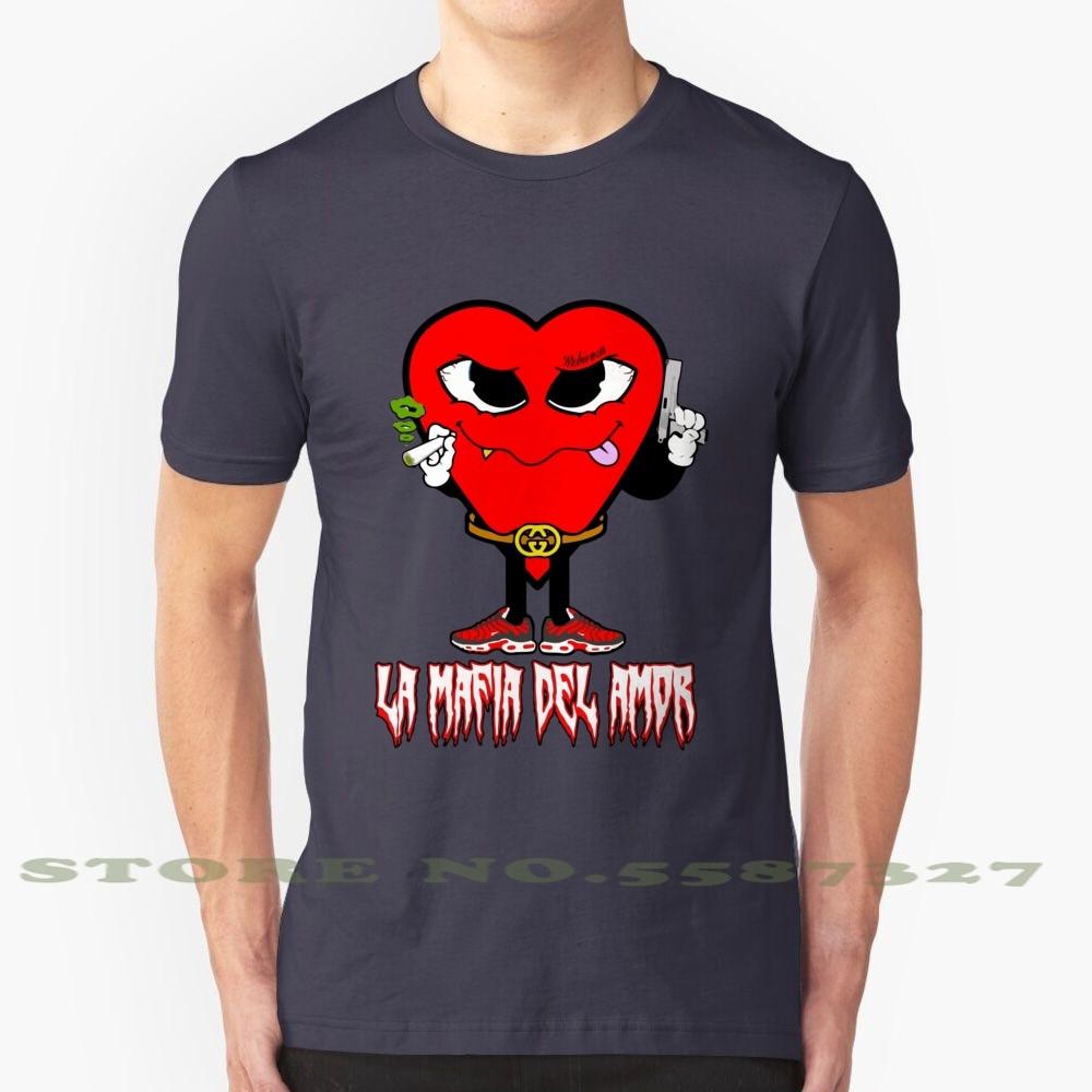 Camiseta de moda con diseño genial de Mafia del amor Pxxr Gvng, sello de registro de venta Reggaeton