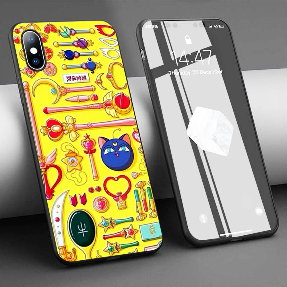 Funda de silicona suave para teléfono sailor moon weapons para iPhone 11 Pro Max X 5S 6 6S XR XS Max 7 8 Plus