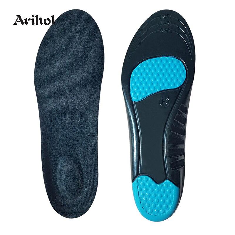 Мужские и женские гелевые спортивные амортизирующие стельки, поглощающие ПУ кроссовки, баскетбольные амортизирующие вставки, внутренняя п...