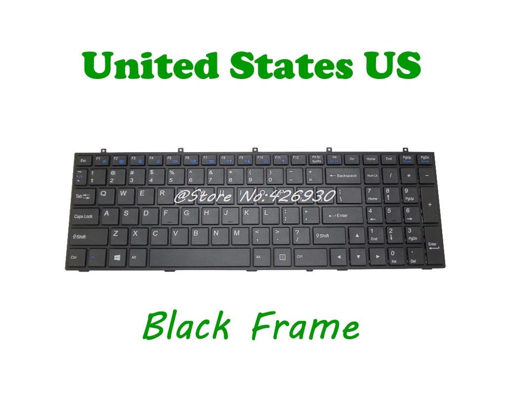 الخلفية لوحة المفاتيح ل CLEVO W370ET MP-12A33US-4301W 6-79-W670ST0K-010-W MP-12A33U4-430 6-80-W367B1-010-1 6-80-W3701-012-1 الإنجليزية