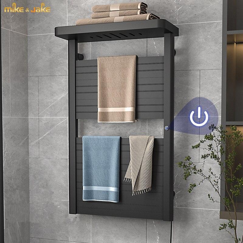 زر بدء ذكي الكهربائية منشفة رف التدفئة المنزلية منشفة استحمام تجفيف الرف درجة حرارة ثابتة منشفة استحمام كهربائية