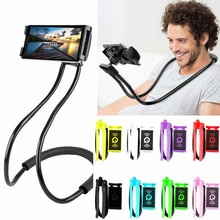 Mobile Phone Holder Lazy Hanging Neck Phone Stands Necklace Bracket Bed 360 Degree Phones Holder Stand For Various mobile phones