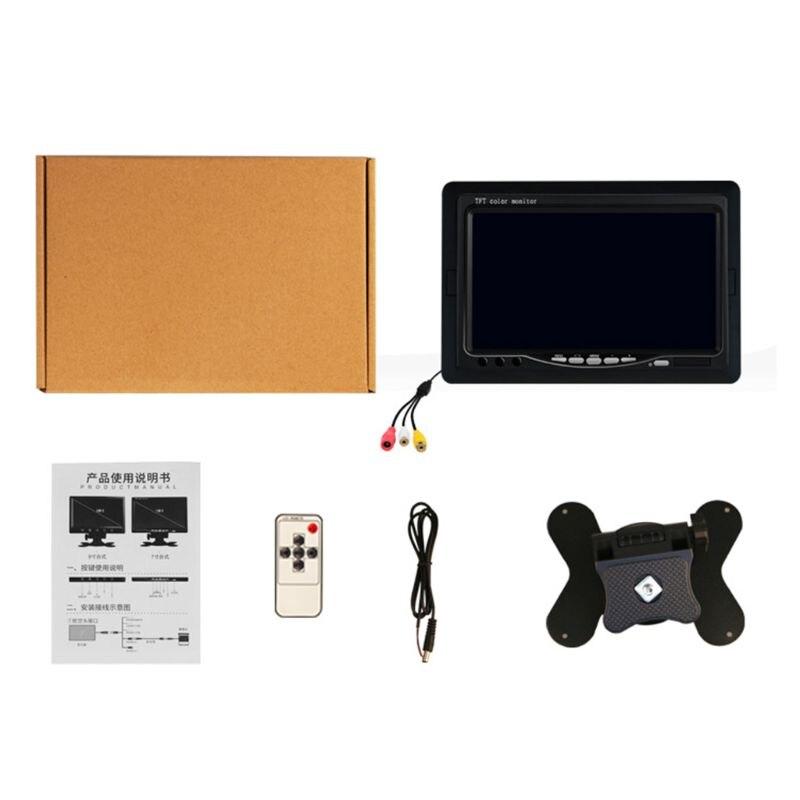 "7  ""TFT LCD Digital en Color Monitor pantalla de vista trasera de coche Cámara reversa de respaldo DVD L9BC"