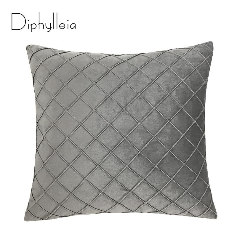 Diphylleia ضوء الفاخرة غطاء وسادة الخصر عالية الجودة الجلد المدبوغ السرير غطاء الوسادة المعين شعرية كيس وسادة رمادي داكن