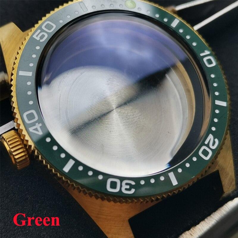 Resistência à Água Case para Nh35 Heimdallr Case Relógio Sólido Safira Cerâmica Moldura Diver Assista 300m Nh36a Movimento Automático 62mas