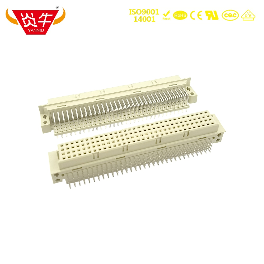 4128 DIN 2.54mm Pitch 4Row CONNECTOR 4*32P 128PIN Female RIGHT ANGLE PINS EUROPEAN SOCKET 24128 231281 3100-4128R YANNIU