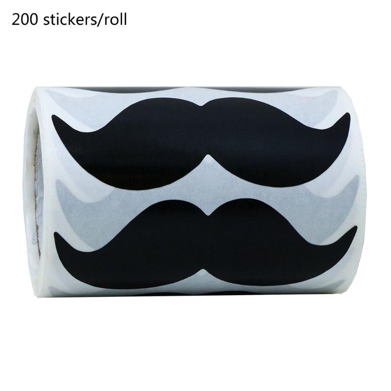 200 Uds./rollo impermeable pegatina para bigote pizarra etiquetas Calcomanía para portátil coche jarrón frasco de cocina
