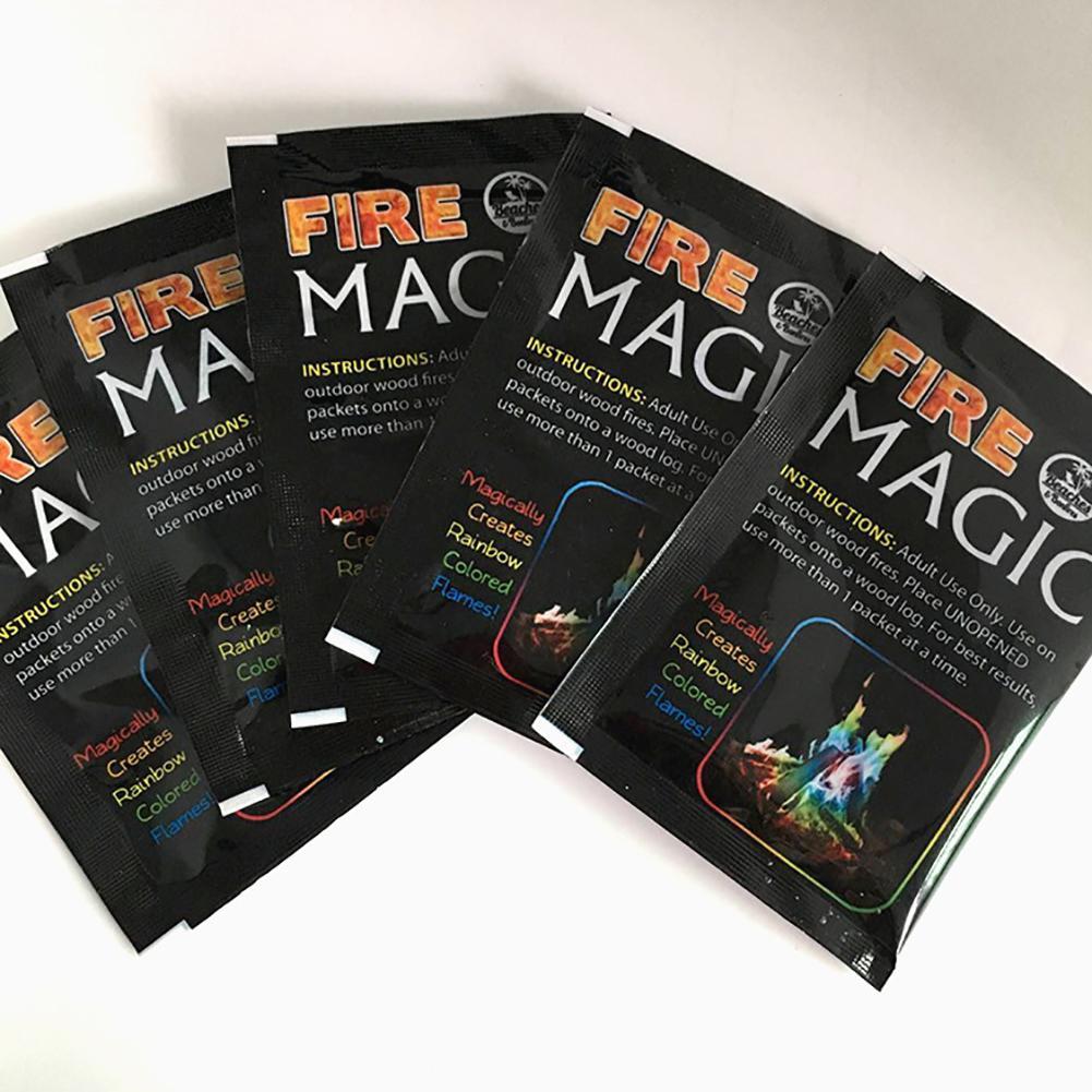 Fuego místico, llama mágica coloreada para fiesta de hoguera, fuego, fuego en llamas, polvo, truco de magia, pirotecnia, juguete
