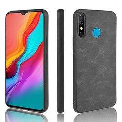 Para infinix quente 8 caso luxo couro do plutônio capa dura de volta caso para infinix quente 8 hot8 infinix x650 x650c casos de telefone protetor