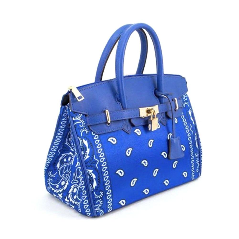 2021 New Upgraded Version Fashion Elegant Paisley Printed Handbags Women Trendy Large Capacity Office Lady Bags