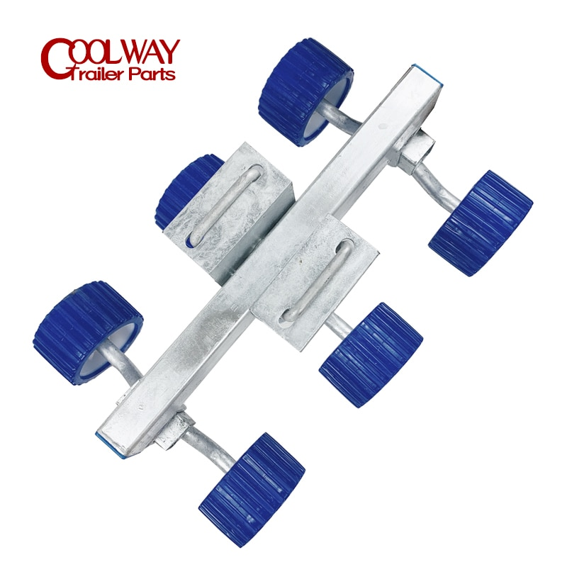 Boat Trailer Soft Wobble Rollers Kits 5 Inch Blue Ribbed 18MM Bore Accessories Parts enlarge