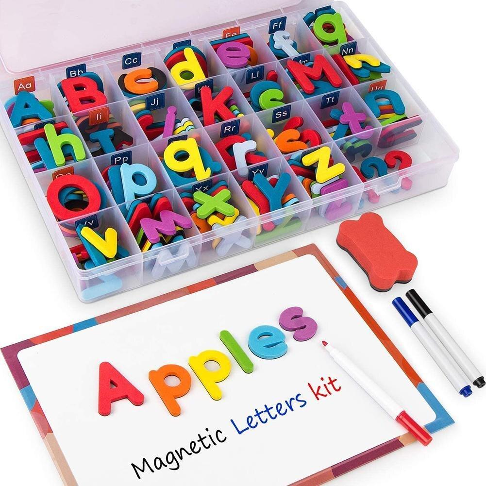 10/26 Pcs Magnetic Letters Uppercase Lowercase Foam Alphabet ABC Magnets for Fridge Refrigerator Edu