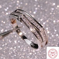 925 silver color sterling vs1 diamond ring for women 2 carats topaz bizuteria anillos gemstone stamp silver 925 jewelry ring