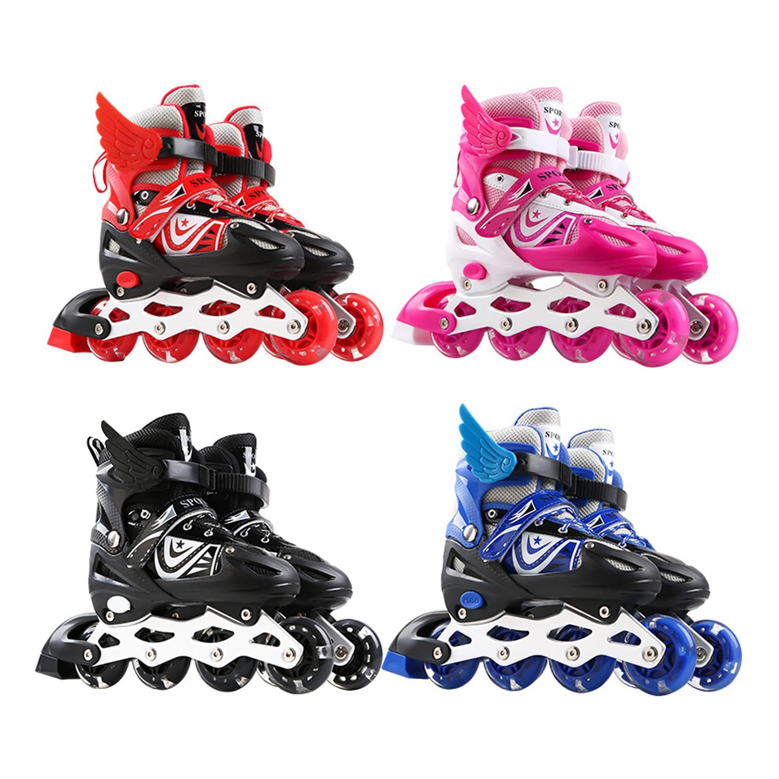 Детские роликовые коньки Flash, роликовые коньки, одноколесные роликовые коньки, роликовые коньки в линию, регулируемый размер для мужчин и же...