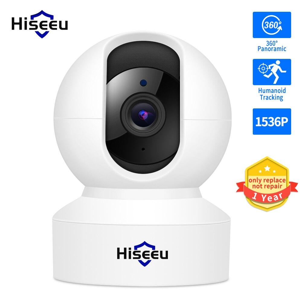 Hiseeu 1080P 3MP واي فاي كاميرا مراقبة فيديو حماية الأمن التلقائي المسار IP كاميرا تلفزيونات الدوائر المغلقة الطفل المنزل الذكي 360 مراقب