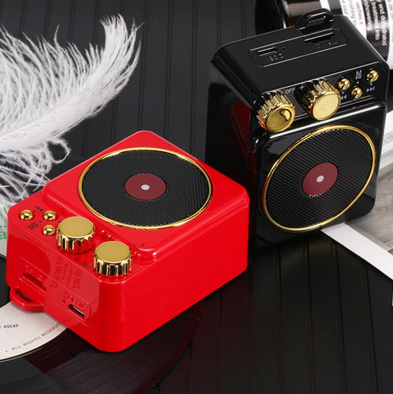 Retro Phonograph Bluetooth Speaker Outdoor Radio Card Subwoofer Wireless Portable Audio enlarge