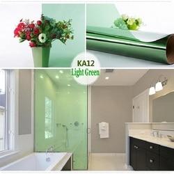 Luz verde filme de vidro autoadesivo removível decorativo uv-prova para janela armário de porta mesa de vidro parede mão trabalho matiz-filme