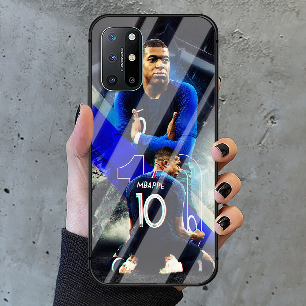 Kylian Mbappe football Phone Tempered Glass Case Cover For Oneplus 5 6 7 8 9 Nord T Pro Pretty Waterproof Cell Funda  - buy with discount