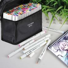TOUCHNEW 30/80/168 colori pennarelli per schizzi Set di pennarelli per pennarelli a doppia punta per segnalibro Manga School Color Pen Art Supplies