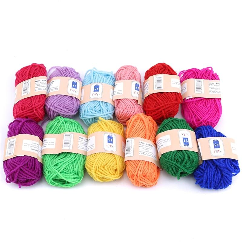 Soft Warm DIY Milk Plush Threads Baby Wool For Hand Knitting Crochet Yarn For Knit Baby Toy Doll Sweater Hat