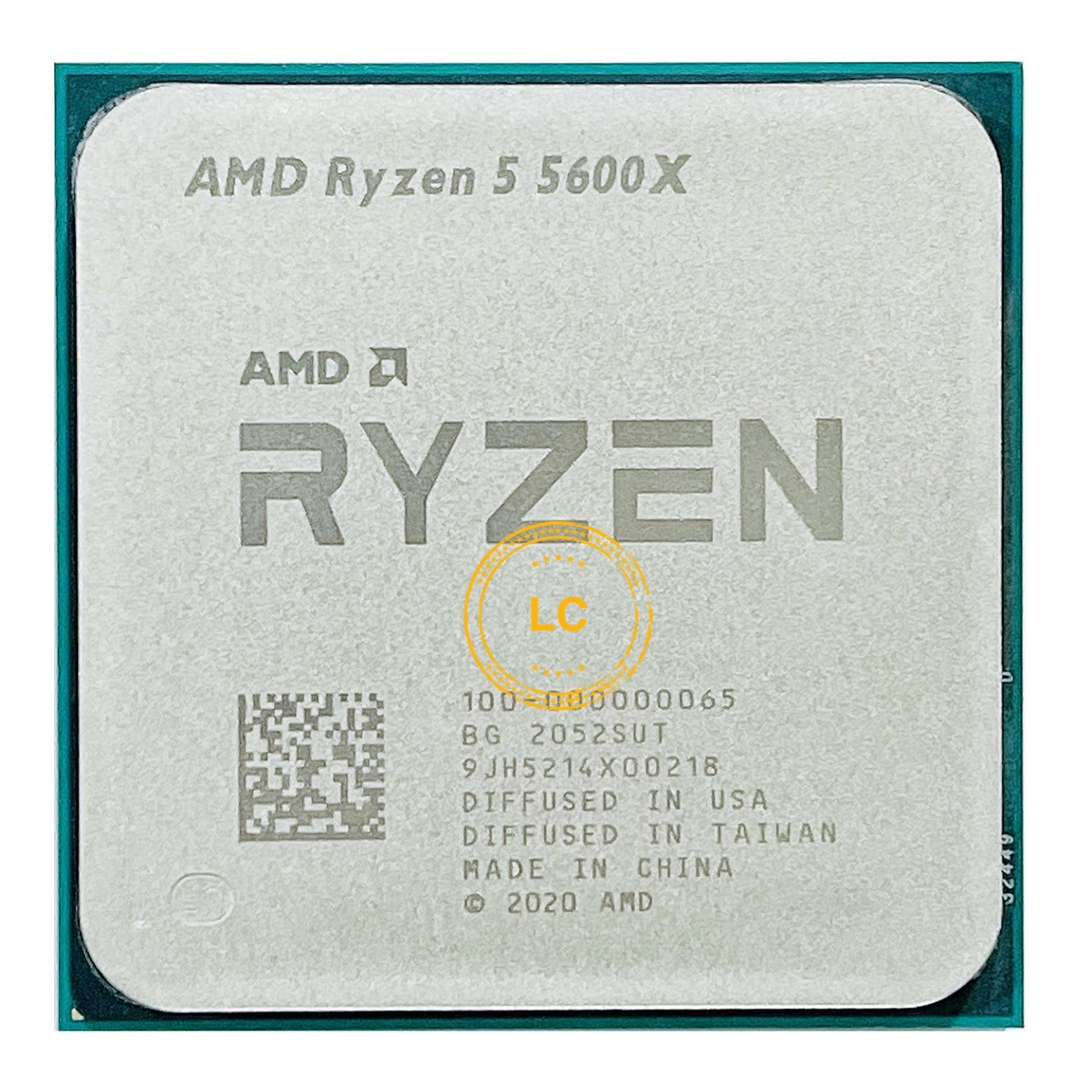 [해외] AMD Ryzen 5 5600X R5 5600X 3.7 GHz 6 코어 12 스레드 CPU 프로세서, 7NM 65W L3 = 32M 100-000000065 소켓 AM4