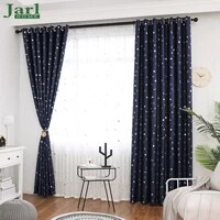 small star moon blackout curtains for living room bedroom kids room children window curtains for children