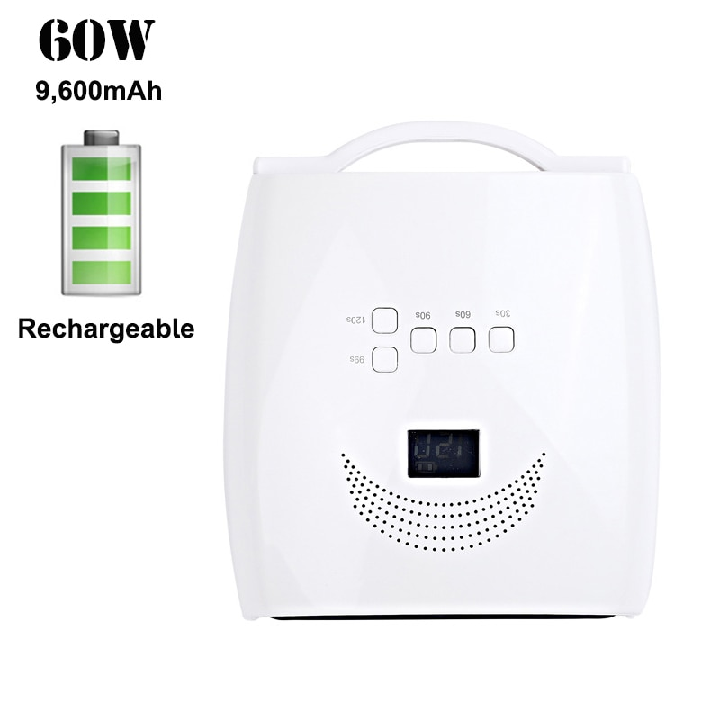 Rechargeable Nail LED Lamp Battery Gel Lacquer Dryer Cordless Nail Dryer Machine Manicure Light Wireless UV Nail Lamp