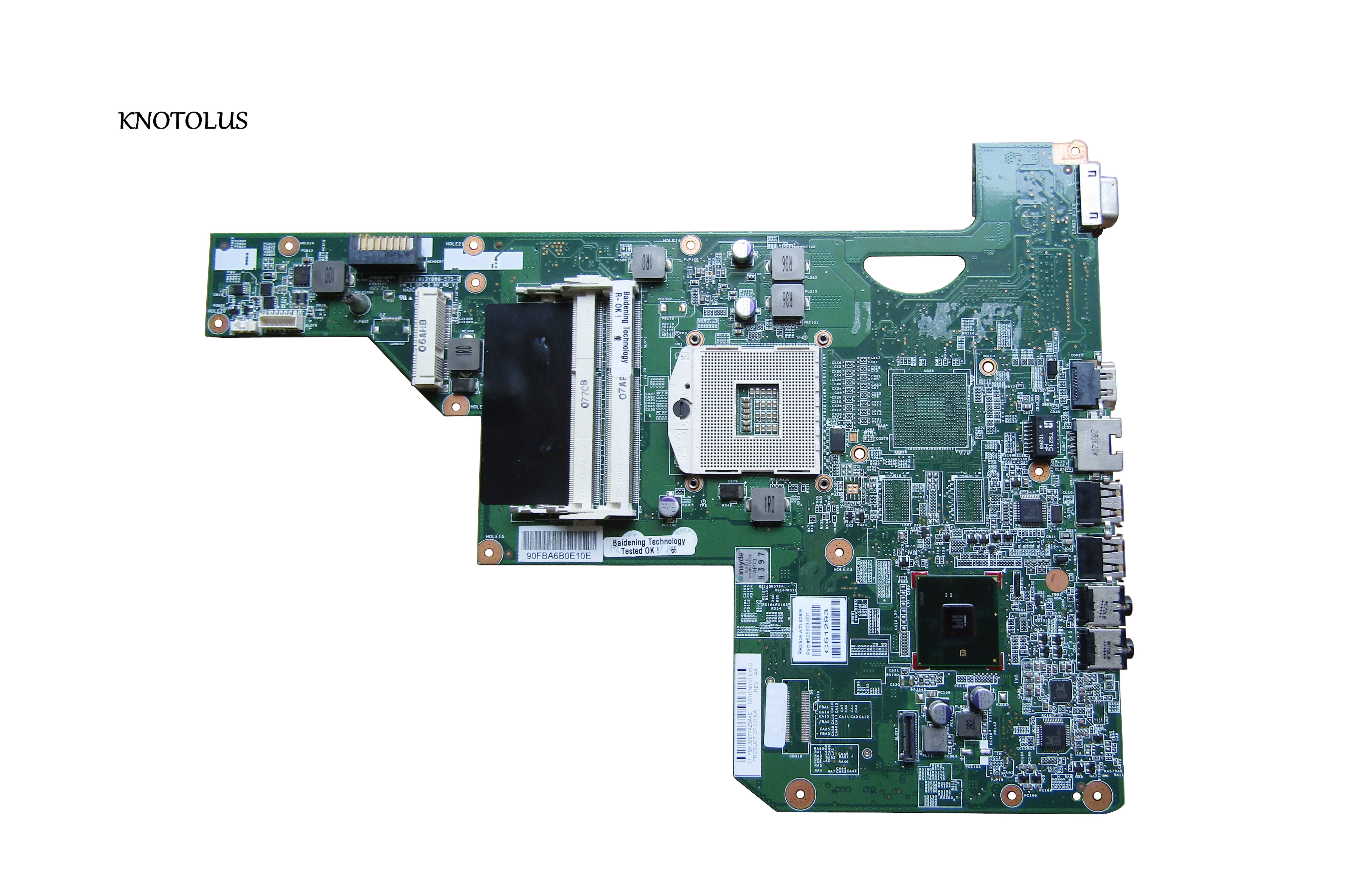 Hulics המקורי 605903-001 לוח עבור HP G62 G72 האם מחשב נייד עם hm55 chipset