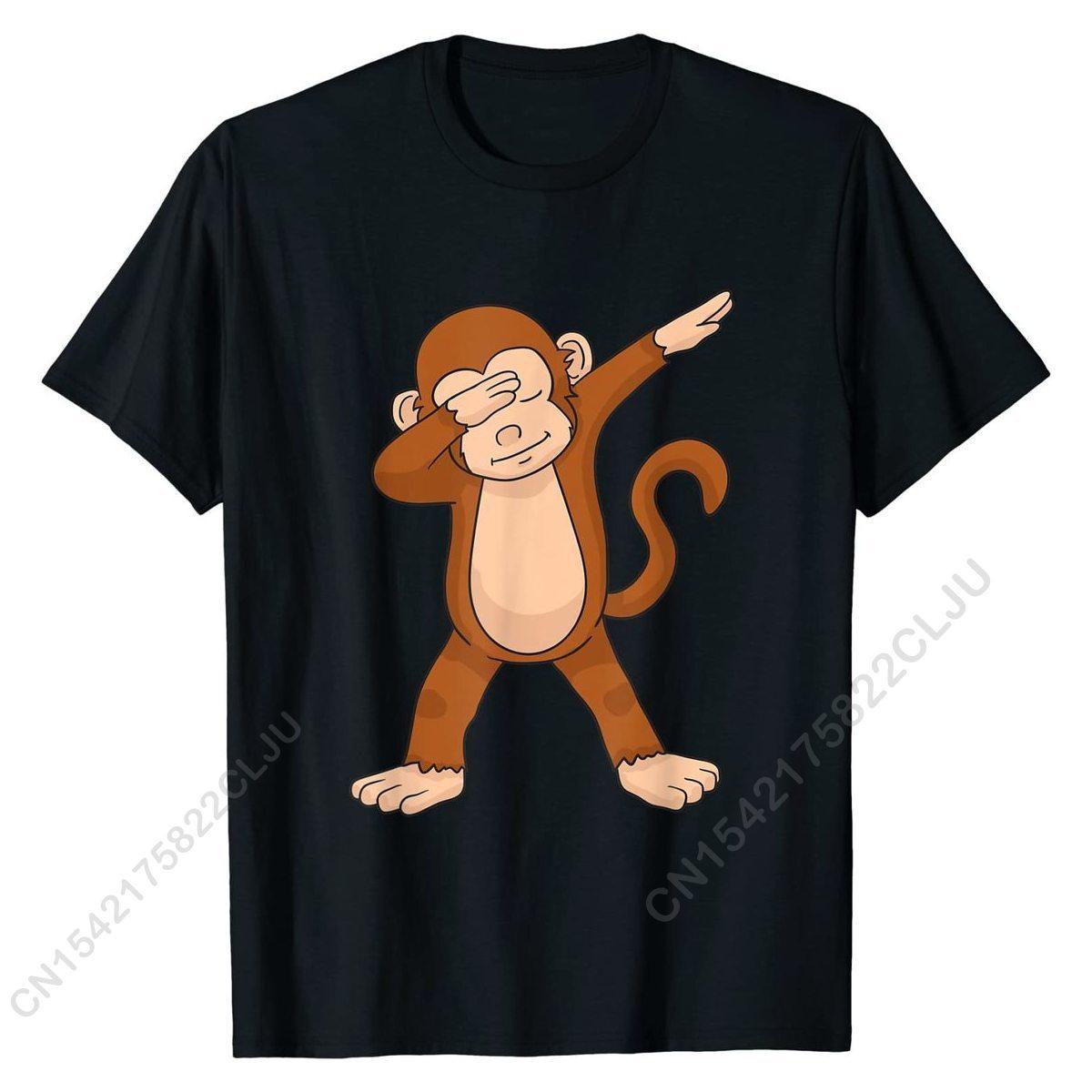 Dabbing Monkey T-Shirt Funny Dab Gift T-Shirt T Shirt T Shirt Cute Cotton Casual Design Men's khaki crushed velvet flounced design t shirt sweatpant bundle