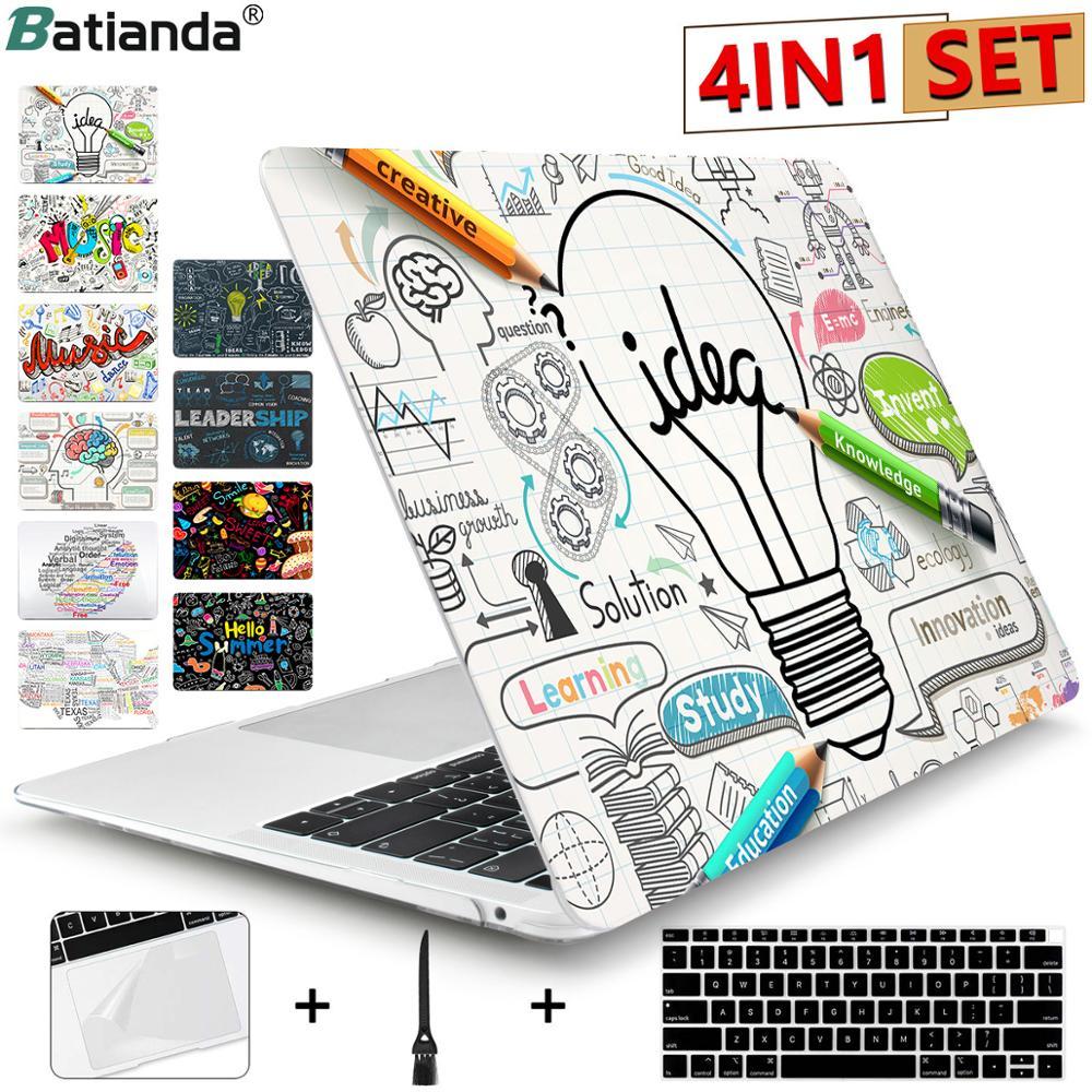 Batianda Hard Case für Macbook Air Pro Retina 11 12 13 15 13,3 zoll Touch Bar A1706 A1708 A1989 A1932 a1990 Einzigartige Laptop Abdeckung