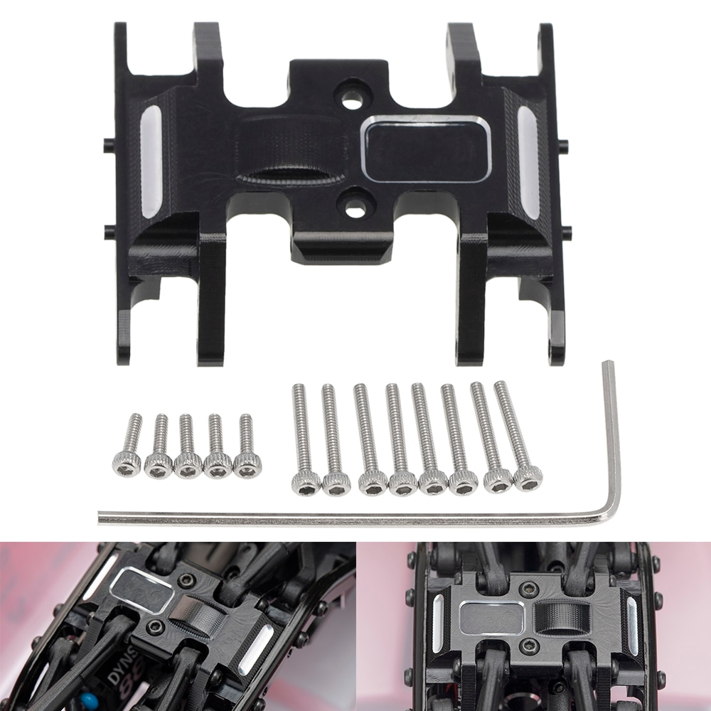 1pc Aluminum Alloy Middle Gearbox Chassis Base Spare Parts with Screws Tool for Axial SCX24 90081 1:24 RC Car enlarge