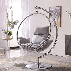 Modern Nordic Style Acrylic Glass Ball Erhai Bubble Chair Transparent Hanging Chair Space Hanging Basket Outdoor Yard Swing