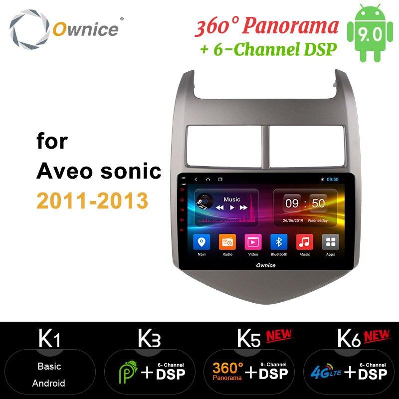 Ownice 8Core Android 9,0 reproductor de DVD del coche carplay GPS Navi 360 Panorama DSP 4G LTE SPDIF para CHEVROLET AVEO 3 SONIC 2011 a 2013 de 2012