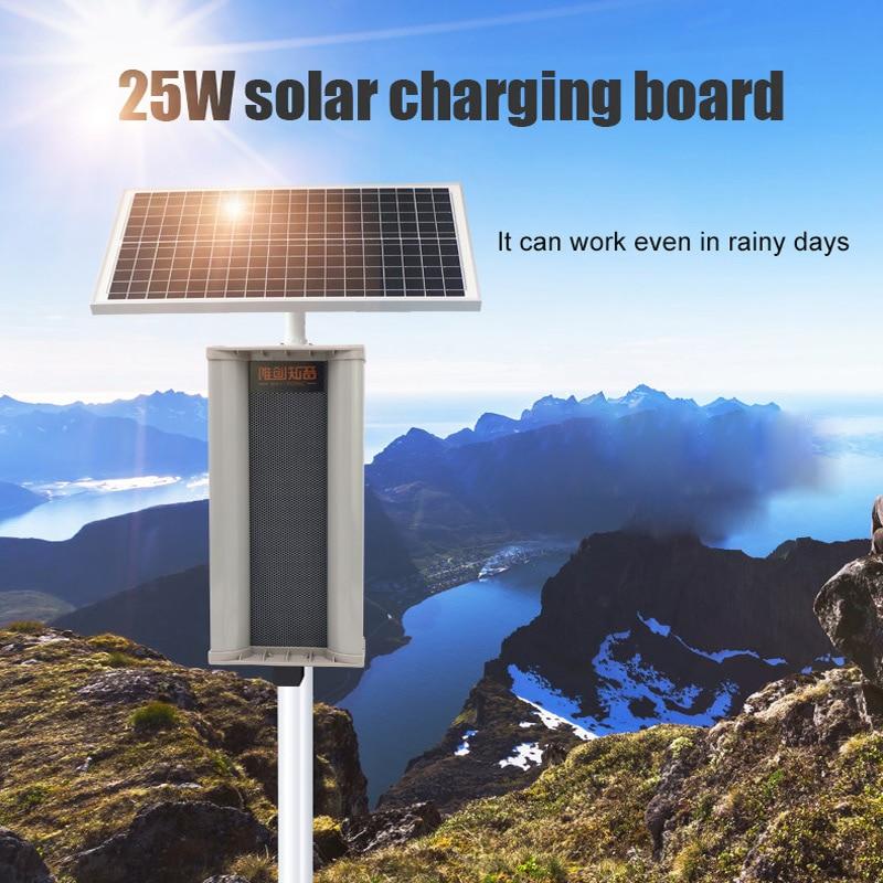 Outdoor Solar IPX5 Waterproof Microwave Sensor Reminder Safety Warning Reminder Motion Sensor Detector Speaker Garden Speaker