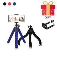 adjustable mobile phone holder flexible octopus tripod bracket cellphone selfie stand monopod for mini sports camera accessories